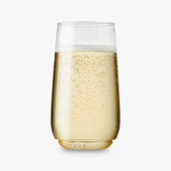 6Oz 12Ct Flute Jr. Champagne Plastic Glass - Tossware