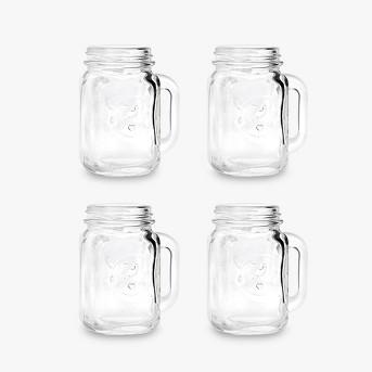 Mason Jar Shot Glasses - 4 ct