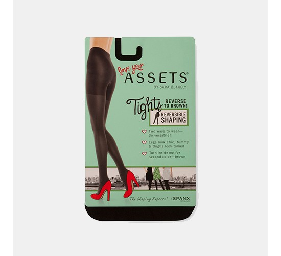 ASSETS® by Spanx® Brand Women's Reversible Tights - 1602 Black/Brown