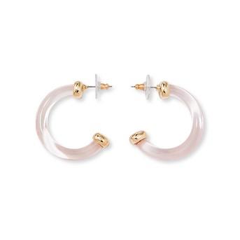 SUGARFIX by BaubleBar Minimal Clear Acrylic Hoop Earrings