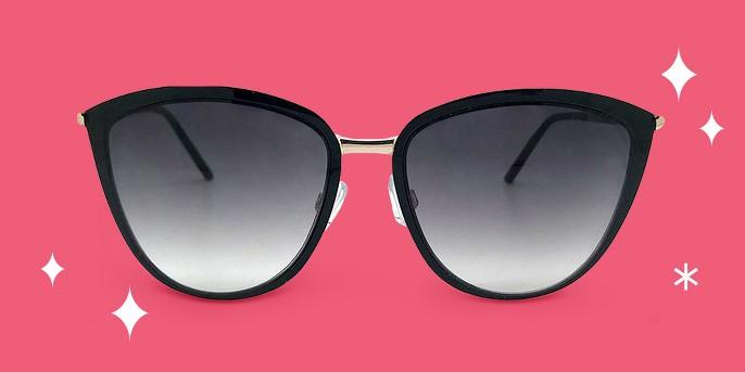 Women's Cat Eye Sunglasses - A New Day™ Black