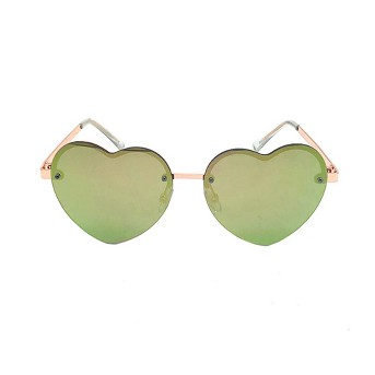 Women's Heart Shaped Sunglasses - Wild Fable™ Rose Gold