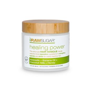 Raw Sugar Healing Power Avocado + Banana Oil + Coconut Milk + Honey Hair Masque - 12 fl oz