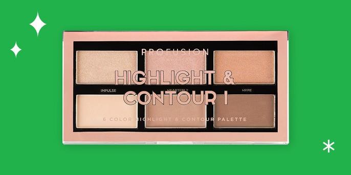 Profusion Cosmetics 6 Shade Highlight & Contour Palette - 3.5 oz