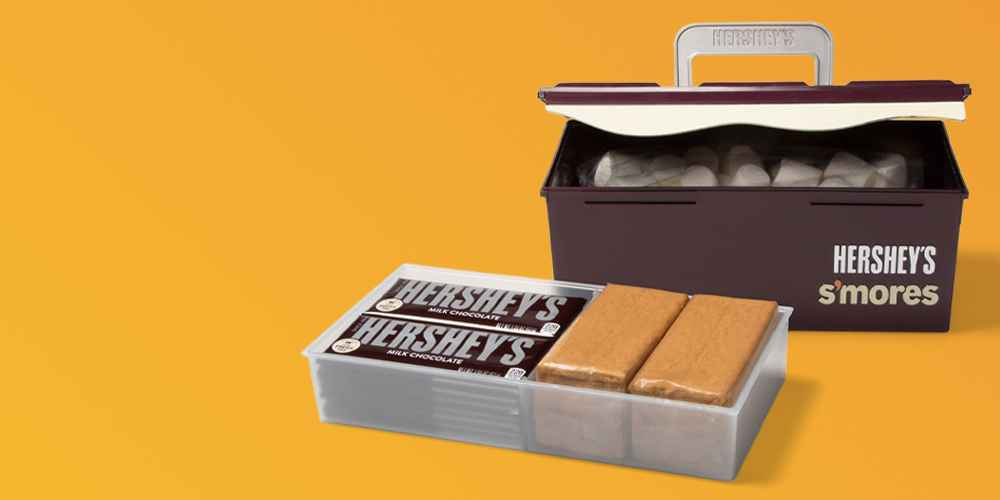 Hershey's S'mores Caddy, Sharper Image Electric Tabletop S'mores Maker - Gray