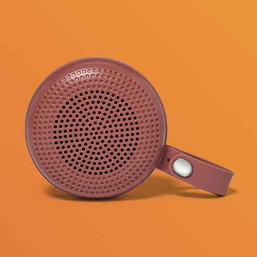 heyday™ Round Portable Bluetooth Speaker with Loop - Dusty Coral