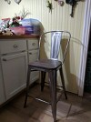 Carlisle 24 Quot Counter Stool With Wood Seat Natural Metal