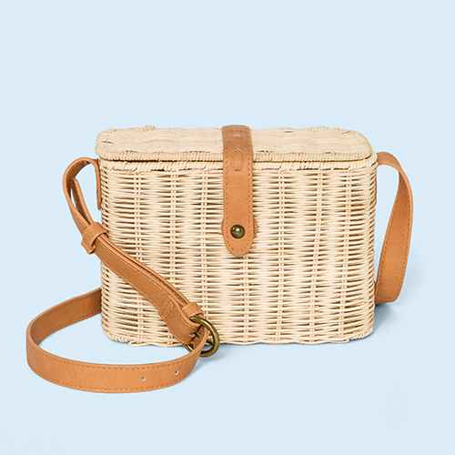 Rattan Straw Flap Crossbody Bag - Universal Thread™ Natural
