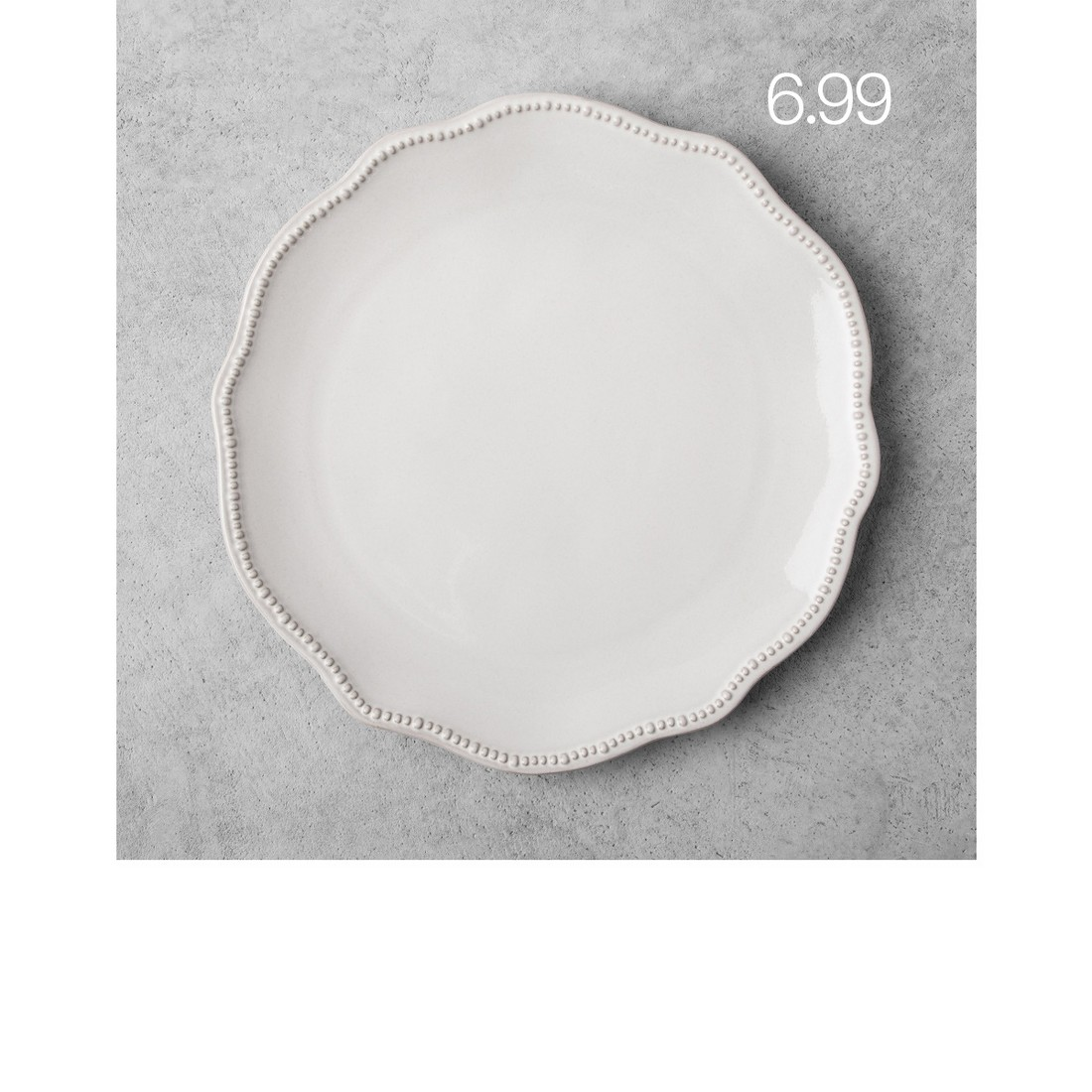 Scallop Beaded Dinner Plate