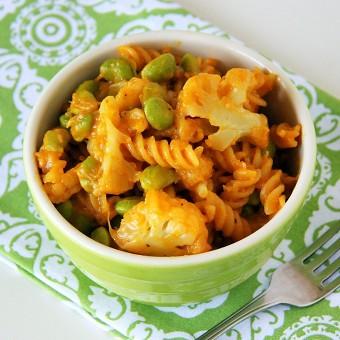 Cauliflower and Edamame Pasta