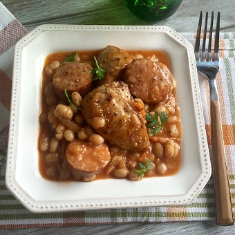 Country-Style Sausage and Beans