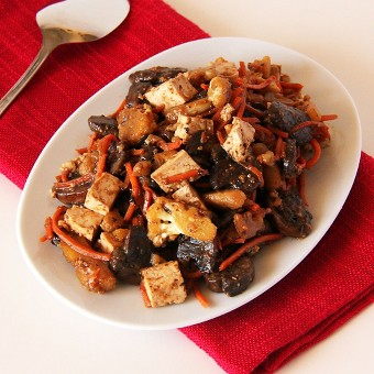 Quick Mushroom and Tofu Stir-Fry