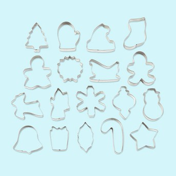 Wilton 18pc Holiday Metal Cookie Cutter