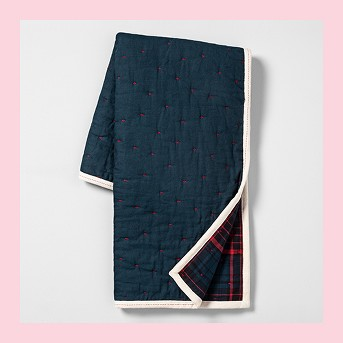 Reversible Throw Blanket - Blue Plaid - Hearth & Hand™ with Magnolia
