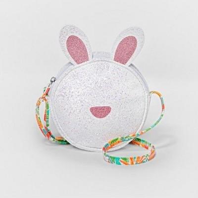Girls' Glitter Bunny Mini Bag - Cat & Jack™ White