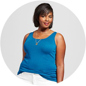 47f05eed0101d Women s Plus Size Basic T-shirts   Tanks   Target