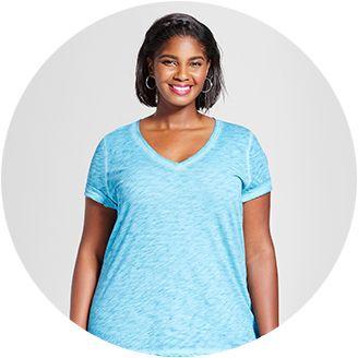 124c477f78d56 Sleeveless   Women s Plus Size Basic T-shirts   Tanks   Target