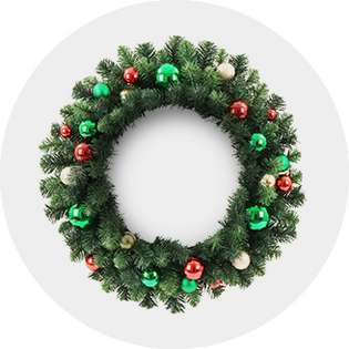 Christmas Lighted Garlands.Christmas Wreaths Garland Target