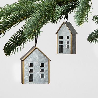 Metal House Ornaments Set of 2 - Hearth & Hand™ with Magnolia
