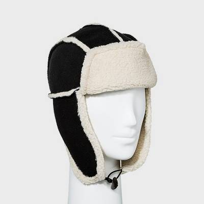 Chaos Women's Faux Shearling Trapper Hat - Black