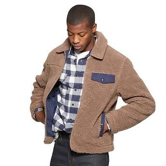 Men's Faux Fur Jacket - Goodfellow & Co™ Mocha
