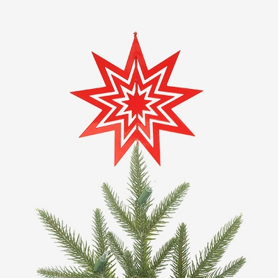 Unlit Starburst Christmas Tree Topper Red - Wondershop™