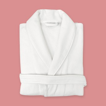 Waffle Terry Robe - Linum Home