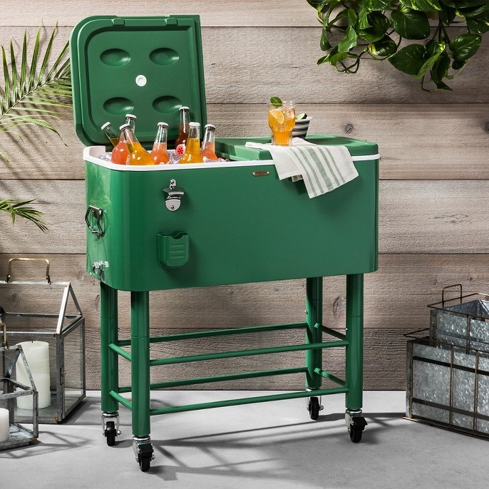 Centennial Rolling Cooler 77qt - Green - Hearth & Hand™ with Magnolia