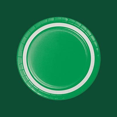 9inch Emerald Paper Plates - 10ct - Spritz™