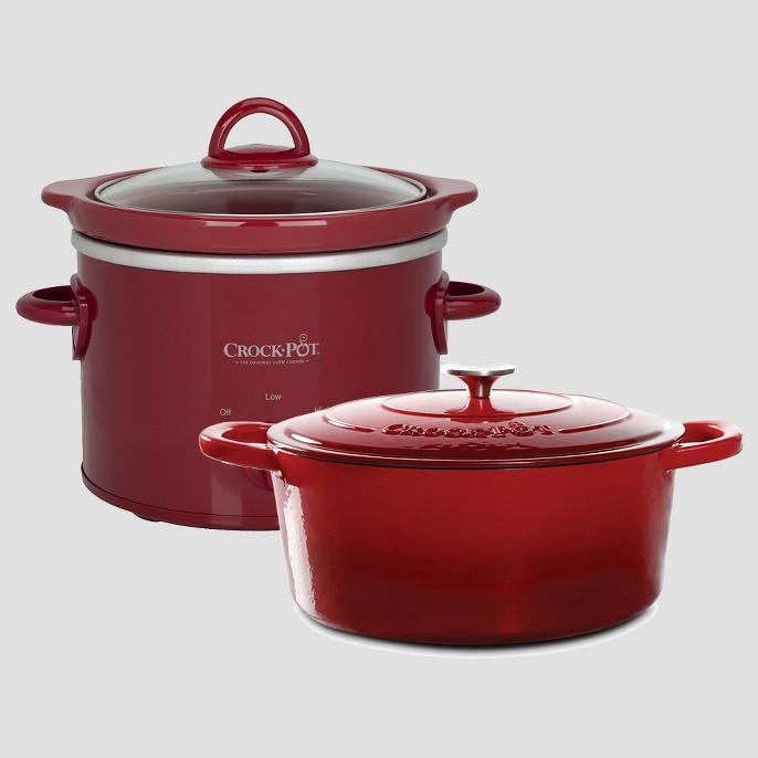 Crock-Pot® 2qt Slow Cooker - SCR200, Crock Pot Artisan 7Qt Oval Dutch Oven Red