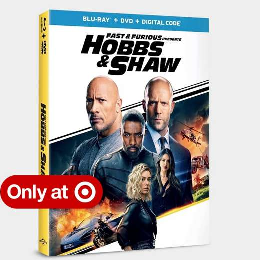 Fast & Furious Presents: Hobbs & Shaw Exclusive version includes interactive gallery book.