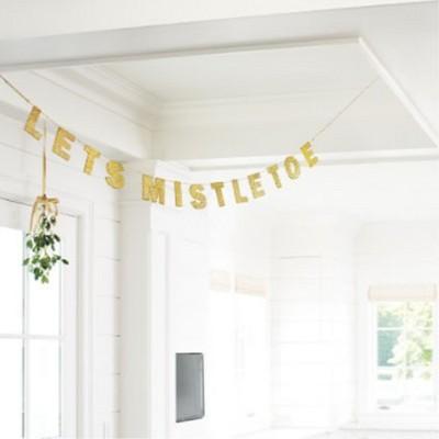 Let's Mistletoe Garland - Gold - Threshold