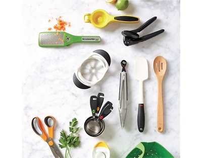 kitchen countertop with utensils