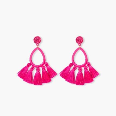 SUGARFIX by BaubleBar Tassel Fringe Hoop Earrings