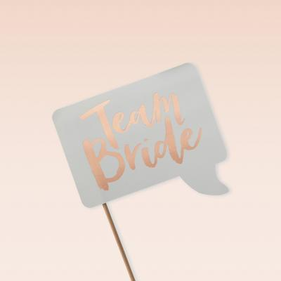 10ct Ginger Ray Hen Party Photo Booth Props Team Bride