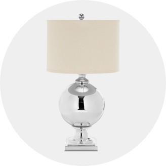 Nightstand lighting Light Gray Luxe Glam Wayfair Table Lamps Target