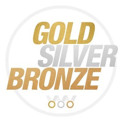 Gold Silver Broze