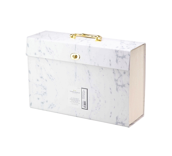 Expandable Box File Folder, 19pkt, Gray Marble - Threshold™