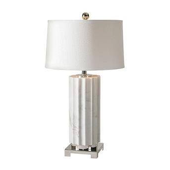Uttermost Castorano Lamp - Marble/White