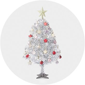 miniature trees - Christmas Tree White