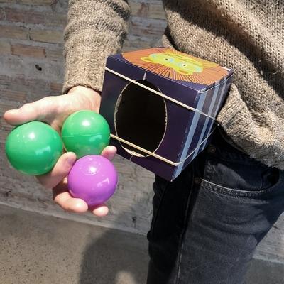 Jake holding balls