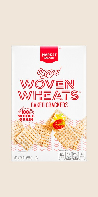 Woven Wheat Crackers 9.5oz - Market Pantry™