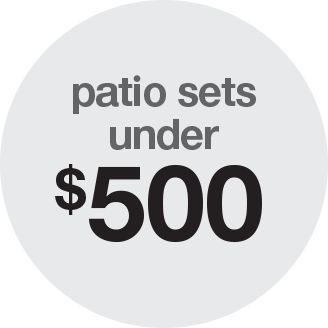 Patio Sets Under 500