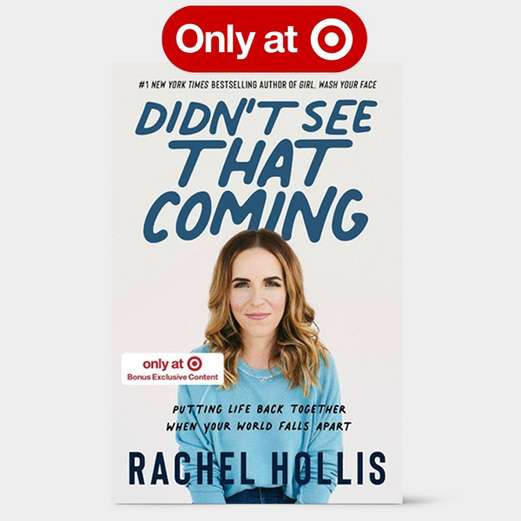 Rachel Hollis.I Didn't See That Coming[/italic] book with exclusive content, and new planners, journals and notebooks.