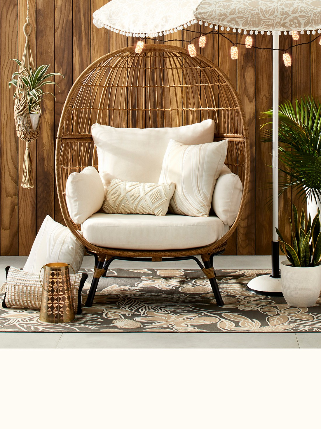 Refreshing Neutrals outdoor decor collection