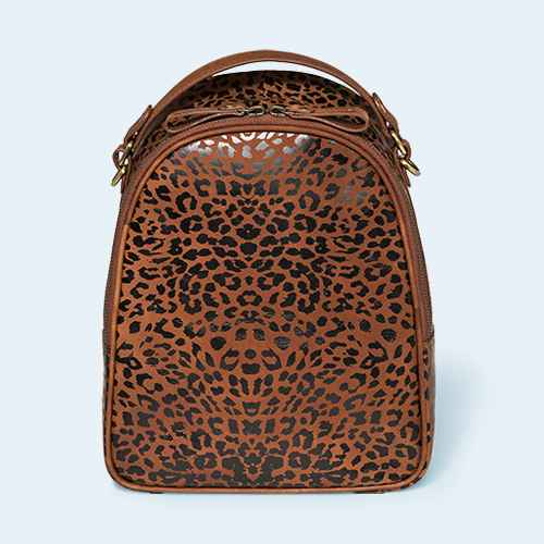 Bolo Leopard Print Metro Backpack - Brown