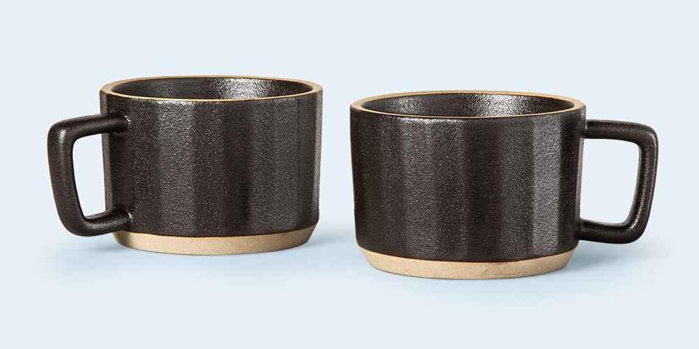 Stoneware Latte Mug Black - Hearth & Hand™ with Magnolia