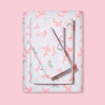 Unicorns Printed Cotton Sheet Set - Pillowfort™