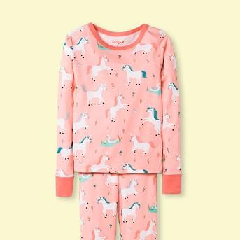 Girls' Unicorn Graphic Tight Fit Pajama Set - Cat & Jack™ Pink