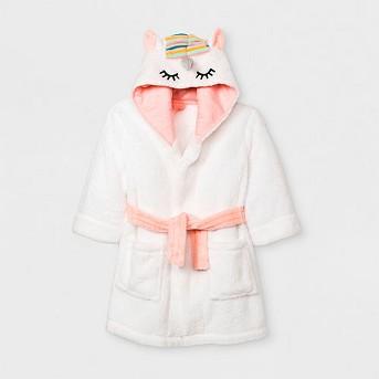 Toddler Girls' Unicorn Robe - Cat & Jack™ White
